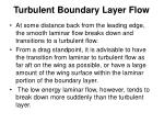 turbulent boundary layer flow