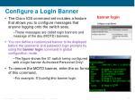 configure a login banner