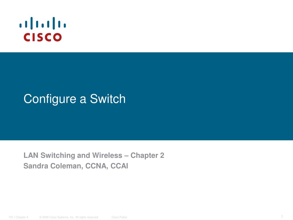 configure a switch l.