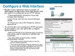 configure a web interface