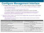 configure management interface