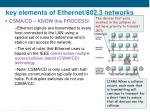 key elements of ethernet 802 3 networks