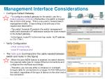 management interface considerations