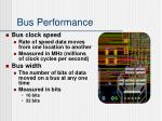 bus performance