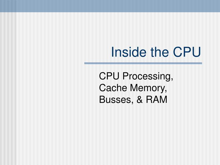 inside the cpu n.
