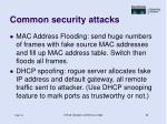 common security attacks