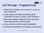 cut through fragment free