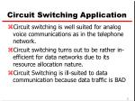 circuit switching application