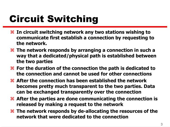 Circuit switching3