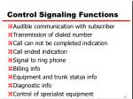control signaling functions