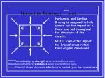 horizontal bracing and