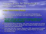 considerations for hierarchical network switches 3