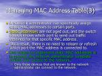managing mac address table 3