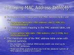 managing mac address table 4