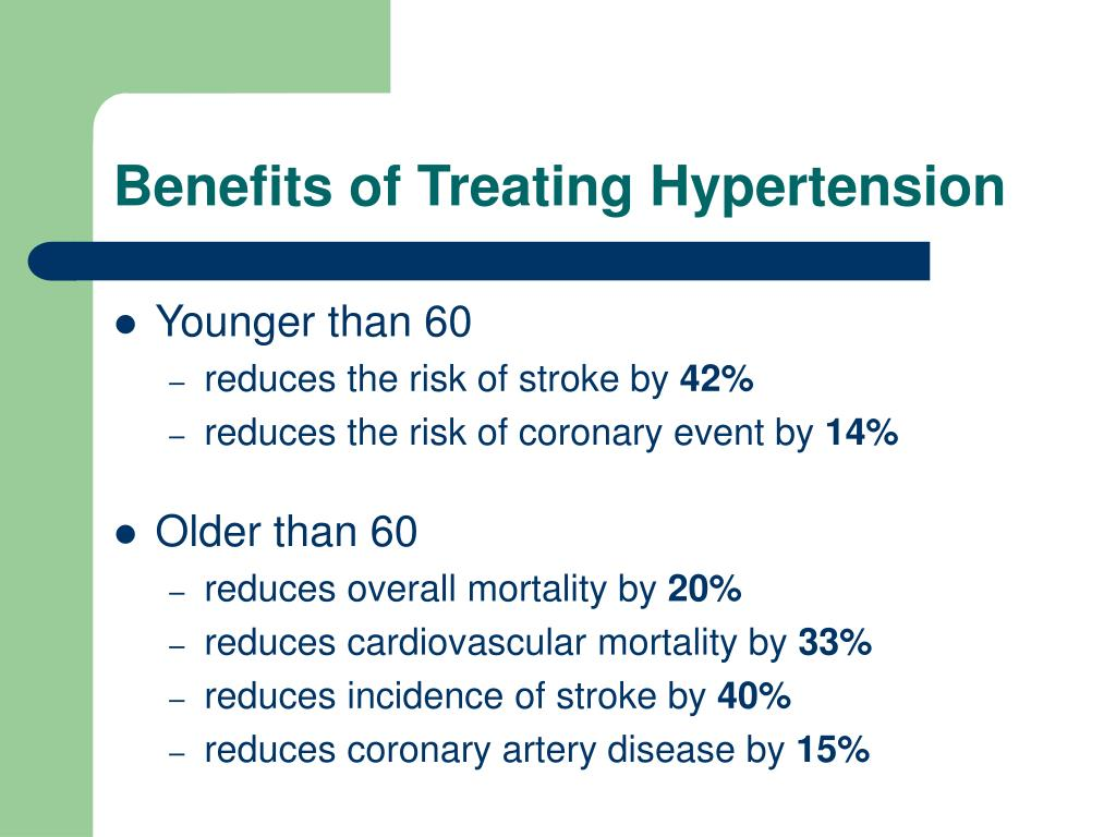 Benefits of Treating Hypertension