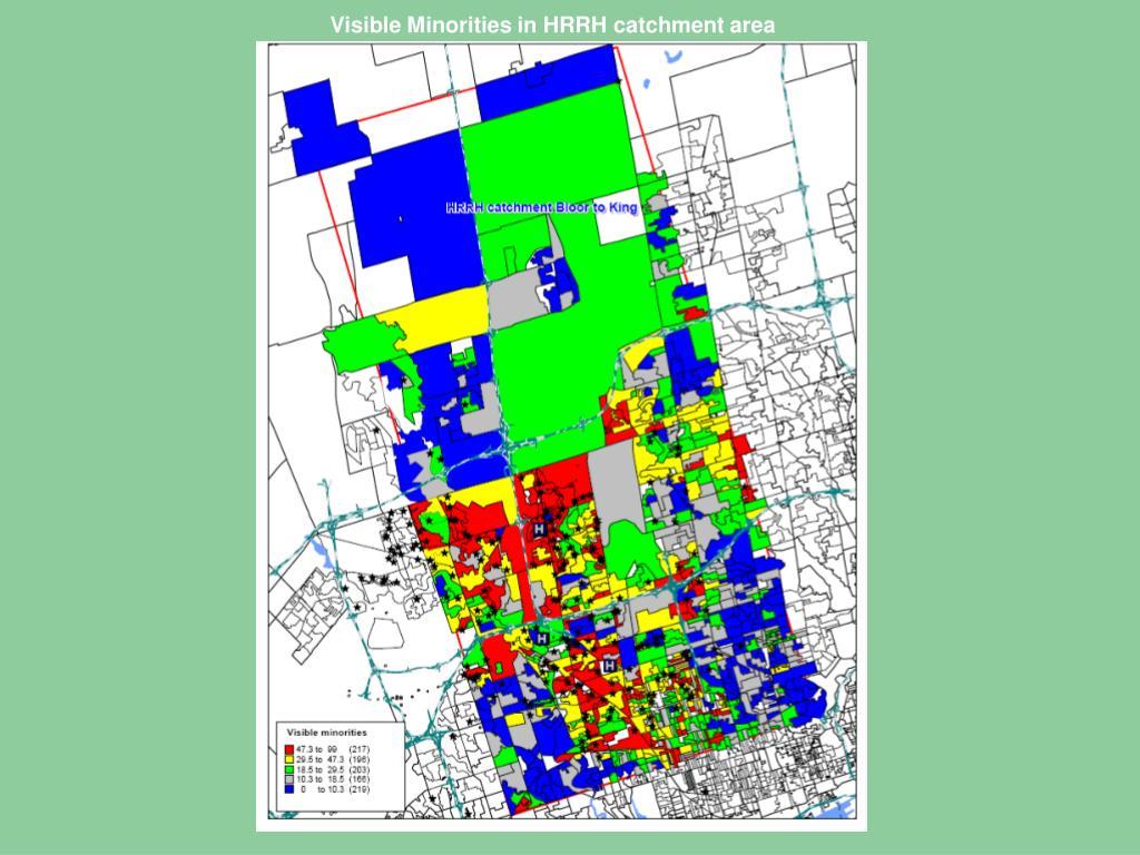 Visible Minorities in HRRH catchment area