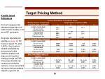 target pricing method