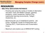 managing complex change cont19