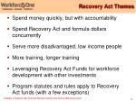 recovery act themes