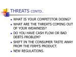 threats contd