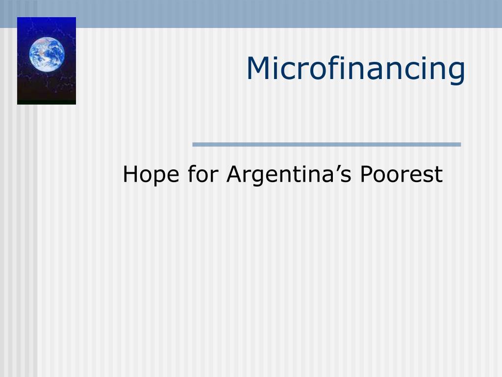 microfinancing l.