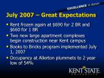 july 2007 great expectations