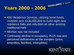 years 2000 2006