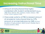 increasing instructional time