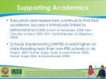 supporting academics