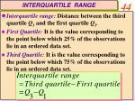 interquartile range