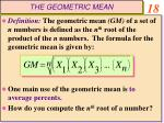the geometric mean