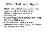 other blunt force injury
