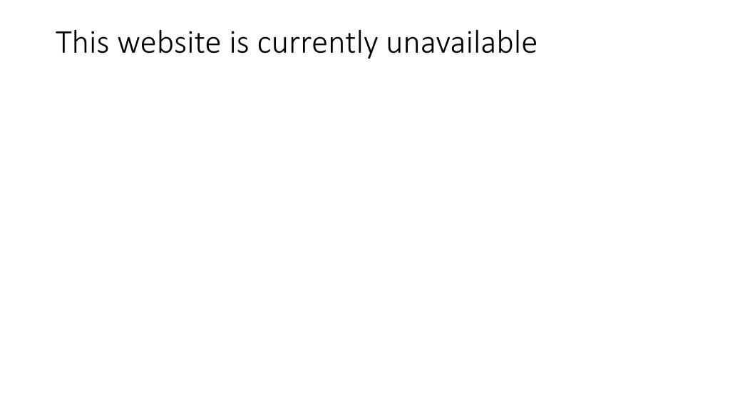 this website is currently unavailable l.