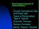 psychological aspects of communication