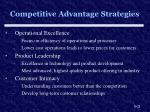competitive advantage strategies
