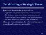 establishing a strategic focus