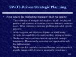 swot driven strategic planning
