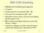 bsd unix scheduling