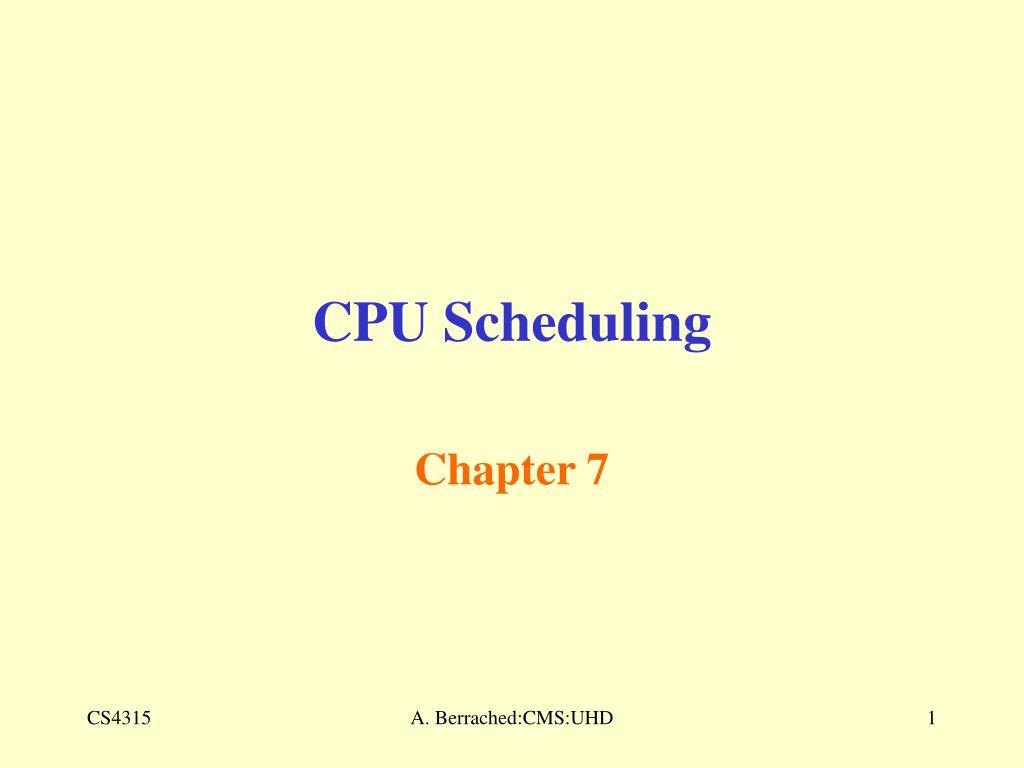 cpu scheduling l.