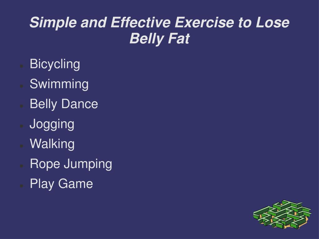 simple and effective exercise to lose belly fat l.