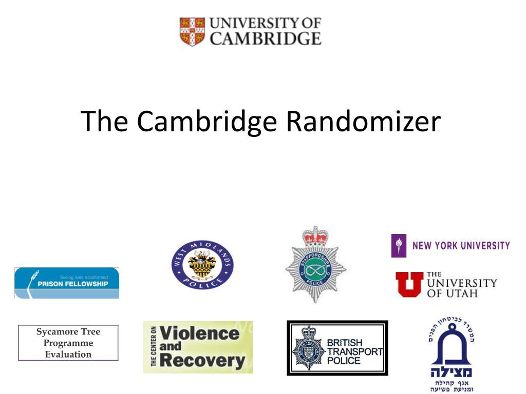 the cambridge randomizer l.