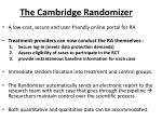 the cambridge randomizer3