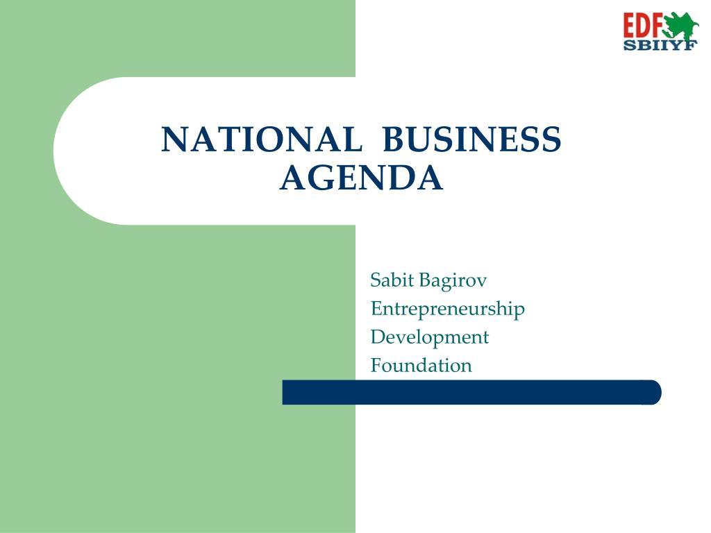 national business agenda l.