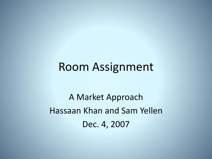 room assignment n.