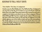 adonai s fall holy days31