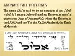 adonai s fall holy days8