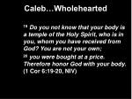 caleb wholehearted14