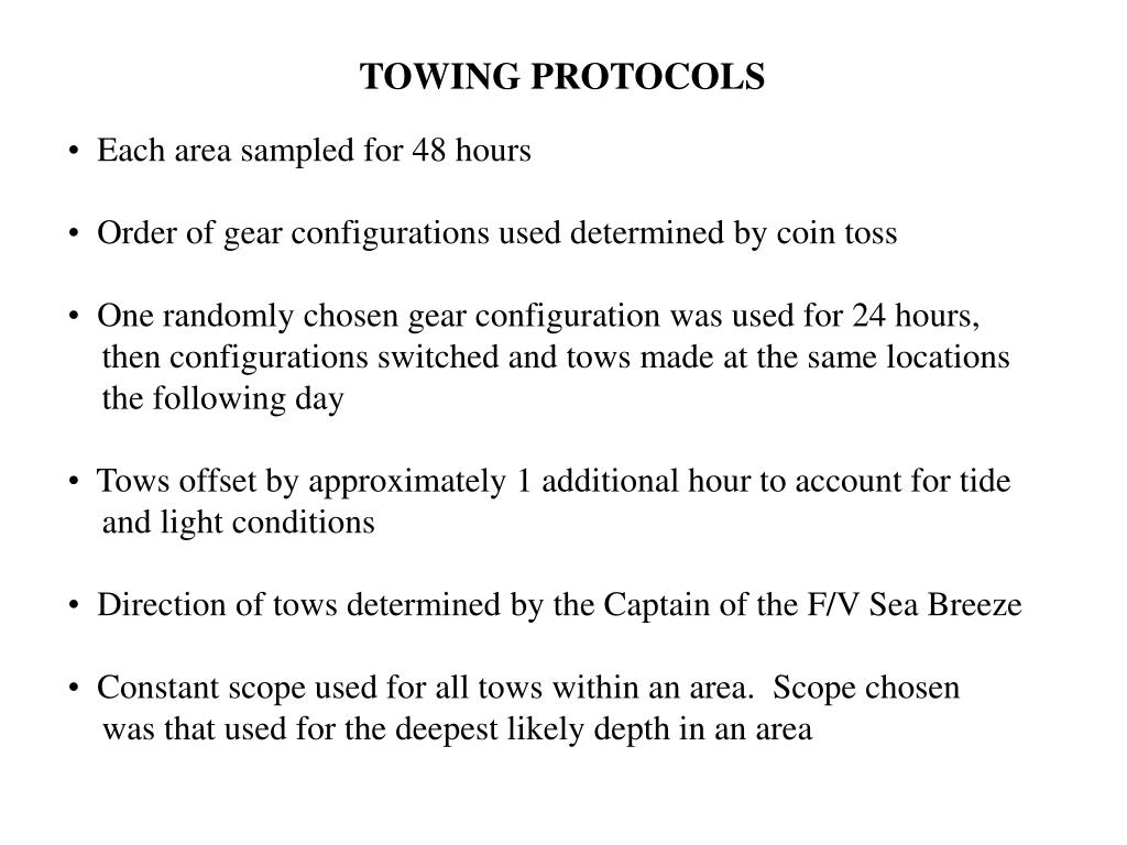 TOWING PROTOCOLS
