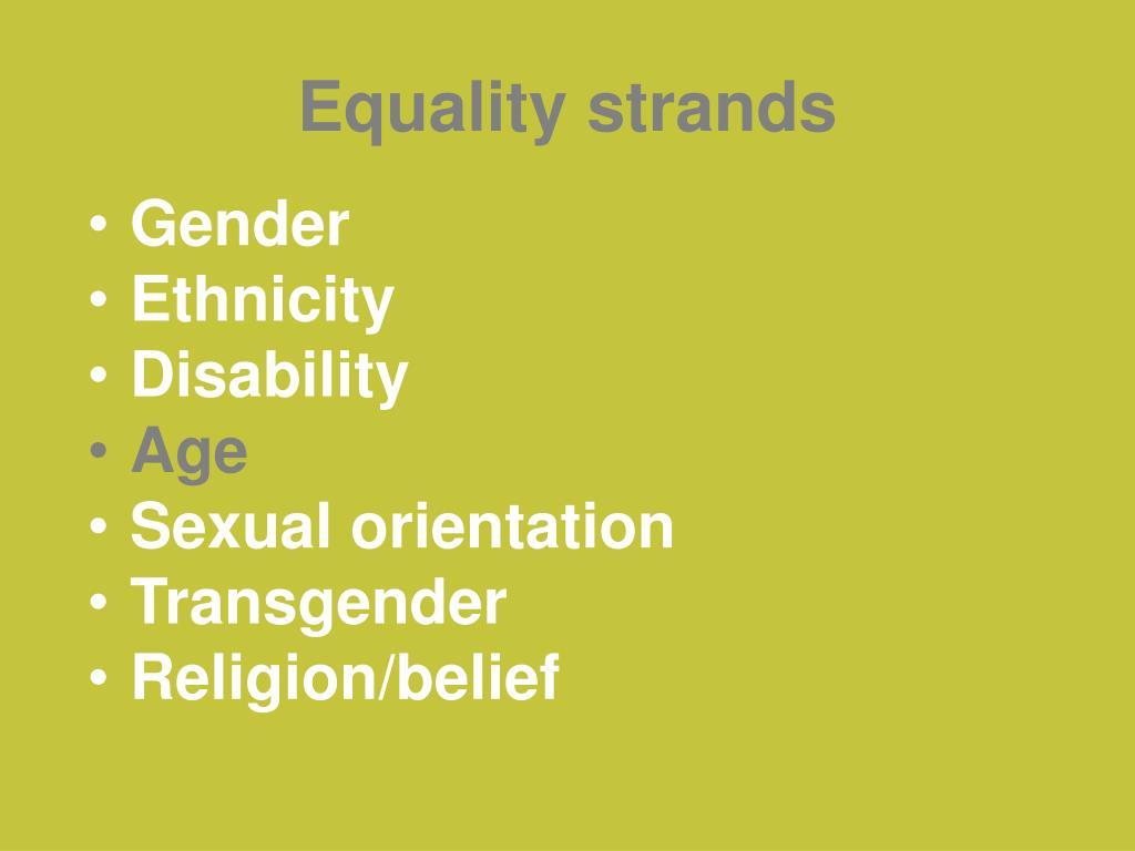 Equality strands