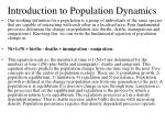 introduction to population dynamics